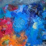 Colores de aceite en la paleta Fotografía de archivo libre de regalías