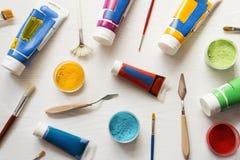 Colores de acrílico del arte imagen de archivo libre de regalías