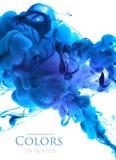 Colores de acrílico en agua Imagenes de archivo
