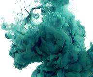 Colores de acrílico en agua abstraiga el fondo Fotografía de archivo