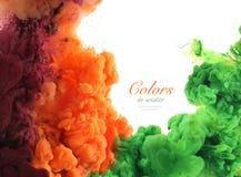 Colores de acrílico y tinta en agua Imágenes de archivo libres de regalías