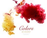 Colores de acrílico y tinta en agua Fotografía de archivo libre de regalías