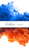 Colores de acrílico y tinta en agua Abstraiga el fondo del marco Aislador Fotos de archivo libres de regalías