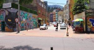 Colores de Bogot? de las casas del distrito de Candelaria almacen de metraje de vídeo
