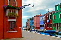 Colores de Burano Fotos de archivo libres de regalías