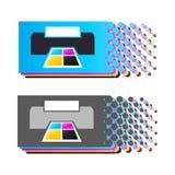 Colores 4 de CMYK imágenes de archivo libres de regalías