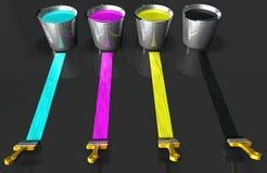 Colores de CMYK stock de ilustración