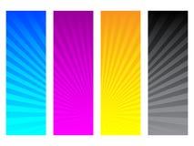 Colores de CMYK Imágenes de archivo libres de regalías