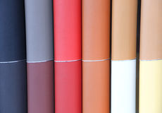 Colores de cuero automotrices Imagen de archivo libre de regalías