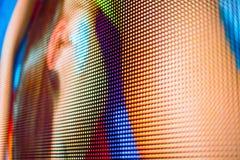 Colores de cuerpo brillantes en la pantalla del LED Fotografía de archivo