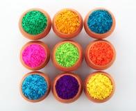 Colores de Holi imágenes de archivo libres de regalías