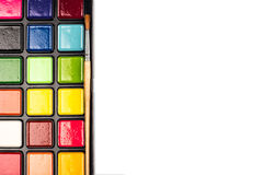 Colores de la acuarela en un rectángulo plástico Fotografía de archivo libre de regalías