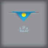Colores de la bandera nacional Palau libre illustration