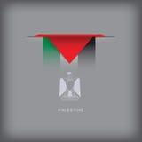 Colores de la bandera nacional Palestina Imagenes de archivo