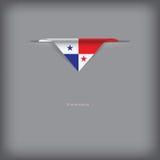 Colores de la bandera nacional Panamá Fotos de archivo