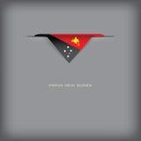 Colores de la bandera nacional Papúa Nueva Guinea Fotos de archivo