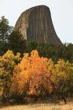 Colores de la caída en la torre de los diablos Fotos de archivo libres de regalías