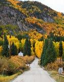 Colores de la caída en St Elmo, Colorado Imágenes de archivo libres de regalías