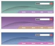 Colores de la cabecera tres del Web Foto de archivo libre de regalías