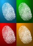 Colores de la huella digital Fotografía de archivo