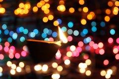 Colores de la lámpara de Diwali Imagenes de archivo