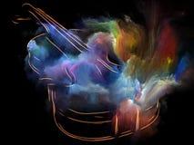 Colores de la música Imagen de archivo libre de regalías