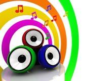 Colores de la música Fotografía de archivo
