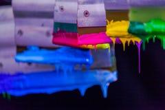 Colores de la mezcla a mano Imagenes de archivo