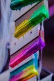 Colores de la mezcla a mano Imagen de archivo libre de regalías