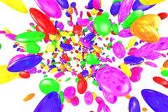 Colores de la piedra mezclados Imágenes de archivo libres de regalías