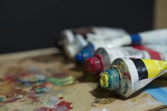 Colores de la pintura Imagen de archivo