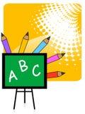 Colores de la pizarra y del lápiz Imagenes de archivo