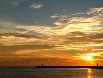 Colores de la puesta del sol foto de archivo libre de regalías