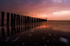 Colores de la puesta del sol Imagen de archivo libre de regalías