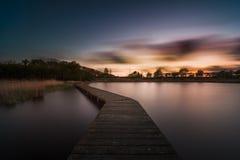 Colores de la puesta del sol Foto de archivo