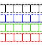 Colores de la raya de la película Fotografía de archivo libre de regalías