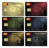Colores de la tarjeta de crédito Foto de archivo libre de regalías