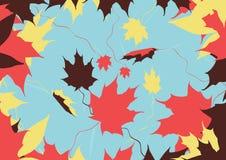 colores de las hojas de otoño ilustración del vector