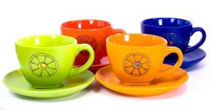 Colores de las tazas fotografía de archivo