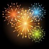 Colores de los fuegos artificiales Fotografía de archivo libre de regalías