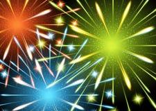 Colores de los fuegos artificiales del fondo Fotografía de archivo libre de regalías