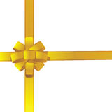 Colores de oro de la cinta del regalo Imagen de archivo