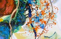 Colores de petróleo mezclados Imágenes de archivo libres de regalías