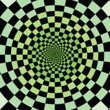 Colores de verde, ilusión Apenas mírelo ilustración del vector