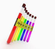 Colores del aislante de tubo Foto de archivo libre de regalías