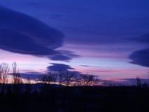 Colores del amanecer Imágenes de archivo libres de regalías