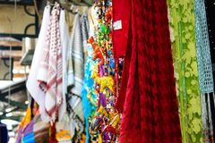Colores del bazar de la ciudad vieja de Jerusalén en Israel Fotos de archivo