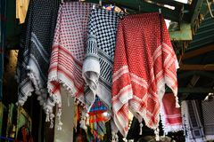Colores del bazar de la ciudad vieja de Jerusalén en Israel Foto de archivo