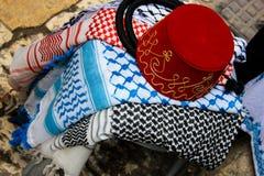Colores del bazar de la ciudad vieja de Jerusalén en Israel Fotografía de archivo libre de regalías