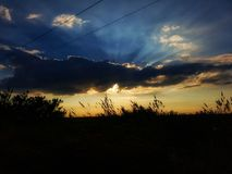 Colores del cielo del verano imagenes de archivo
